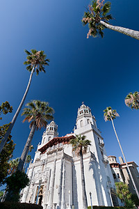 hearst castle - polarizing filter on a wide angle lens